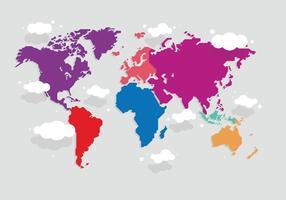 Karta Mundi Färgrik vektor