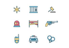 Polizei-Icons