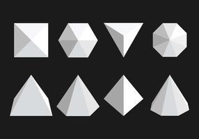 Prisma-Vektor-Icons gesetzt vektor