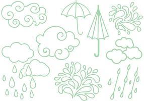 Freie Regenzeit Vektoren