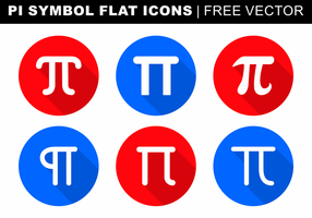 Pi-symbol Flat ikoner Gratis Vector