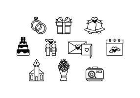 Freie Hochzeit Icon Vektor