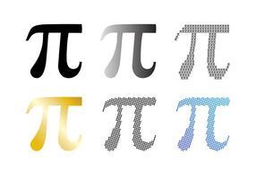 Pi symbol vektor uppsättning