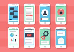 Kostenlose Smartphone-Bildschirme Vektor