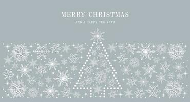 Frohe Weihnachten und Frohes Neues Jahr abstrakte Schneeflocke Hintergrund vektor