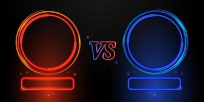 rot und blau leuchtende Rahmen versus Design vektor