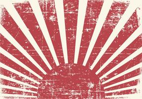 Old Grunge Kamikaze-Stil Hintergrund vektor