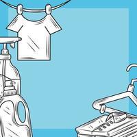 Waschmittel und Kleidungszusammensetzung vektor