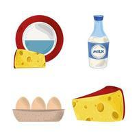 Cartoon Food Set vektor