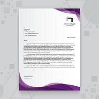 lila kreativa företag brevpapper mall vektor