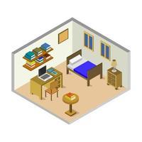 isometrisches Babyzimmer auf Weiß