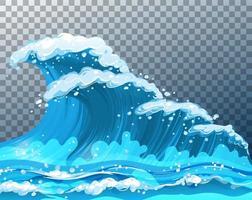 riesige Meereswellen vektor