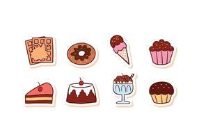 Gratis Dessert Lebensmittel Icon Set vektor