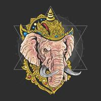 Lord Ganesha Kopf vektor