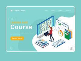Landingpage für isometrische Bildung