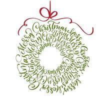 dekorativer Weihnachtskranz mit Schriftzug