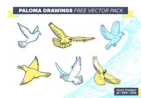 Paloma Zeichnungen Kostenlose Vektor-Pack