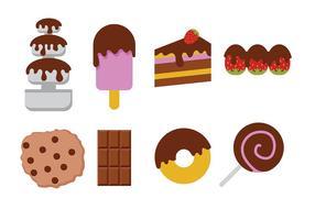 Schokolade Lebensmittel Icon Vektor