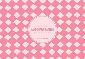 Niedliches Rosa Hand gezeichnete Art-Muster-Hintergrund
