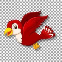 söt röd fågel karaktär