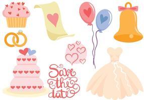 Freie Hochzeit Vektoren