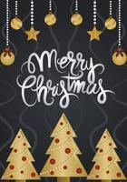 lyxigt julkort vektor