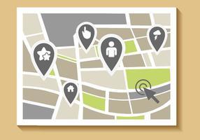 Kostenlose Straßenkarte Vektor