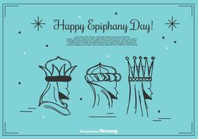 Lycklig Epiphany dag Bakgrund vektor
