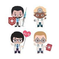 grupp av olika manliga läkare