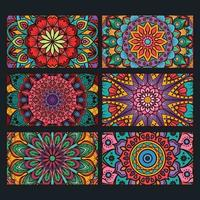 färgglada dekorativa mandala bannersamling