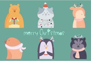 djur julpack vektor