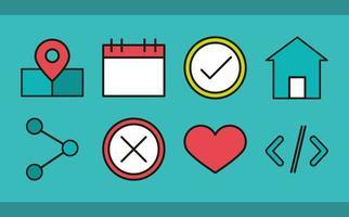 användargränssnitt ikonuppsättning