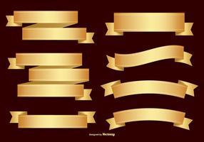 Goldene Labels Sammlung vektor