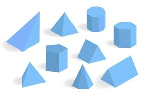 Blau Prisma und Prisma Vector Set