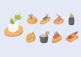 Canapes Slice Vector Illustration