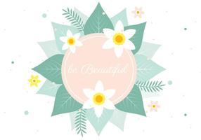 Free Spring Vector Blumen-Gruß