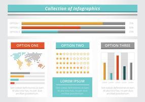 Gratis Flat Infographic vektorelement vektor