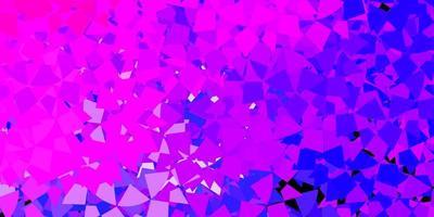 mall för rosa och blå triangelform
