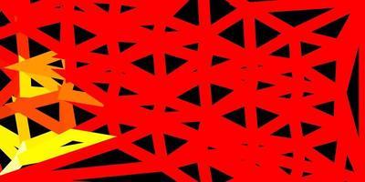 rött och gult triangelmönster.