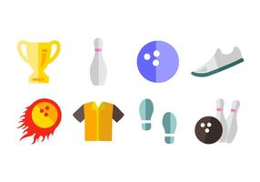 Kostenlos Bowling Icons Vector