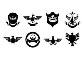 Eagle Gratis-Abzeichen und Logo-Sammlung Vektor