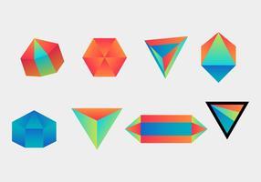 Prisma mit perfektem Gradient vektor