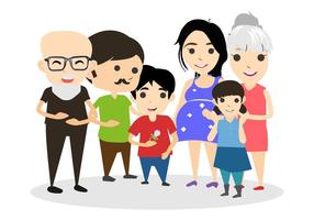 Free Happy Familie Vector Illustration