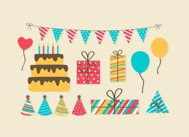 Free Birthday Party Elements vektor