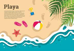 Playa Top View-Vorlage Free Vector
