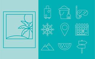Reise- und Tourismus-Icon-Set