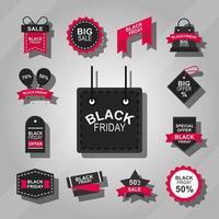 svart fredag försäljning ikon samling
