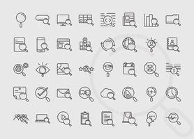 Web-Suchsymbol mit Lupen eingestellt