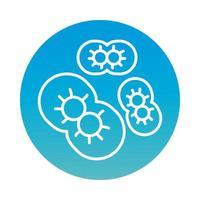 infizierte Zellen mit covid19-Blockstilsymbol