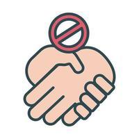 Handshake verweigert Signalfüllstil-Symbol